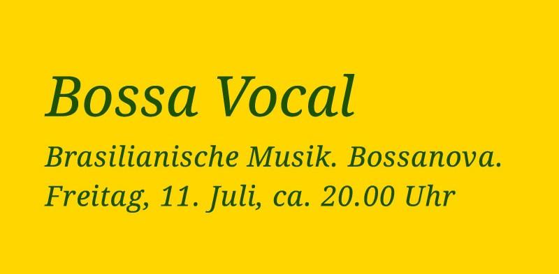 Bossa Vocal. Brasilianische Musik – Bossanova. Konzert.